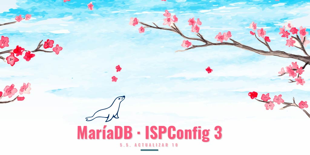 MariaDB ISPConfig3 Watercolor background cherry blossoms