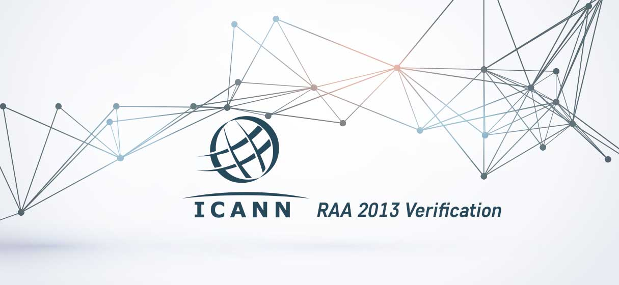 ICANN RAA 2013 verification