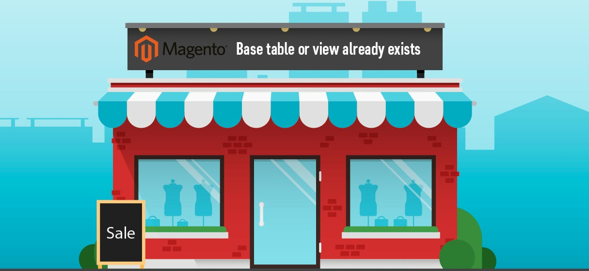 Magento table or view exists