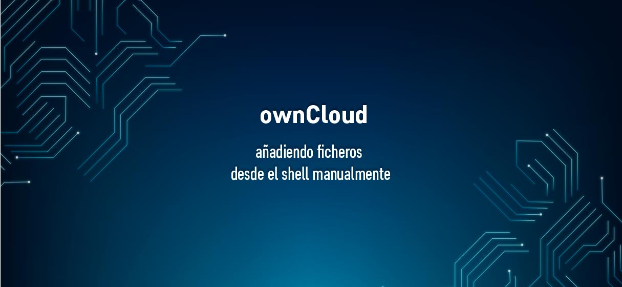Añadir ficheros a ownCloud (desde el shell)