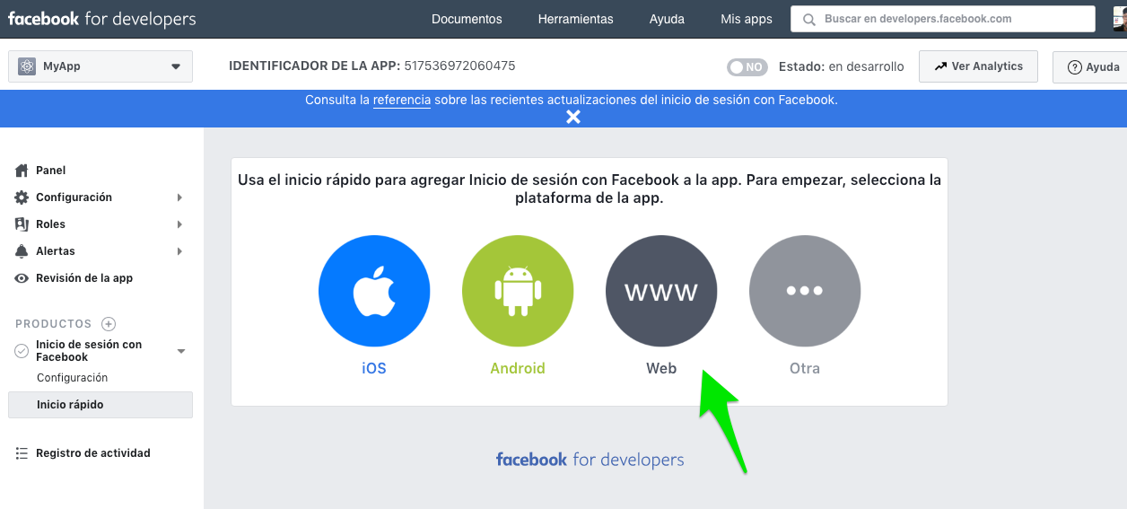 Crear app Facebook for Developers :: Configuración Básica